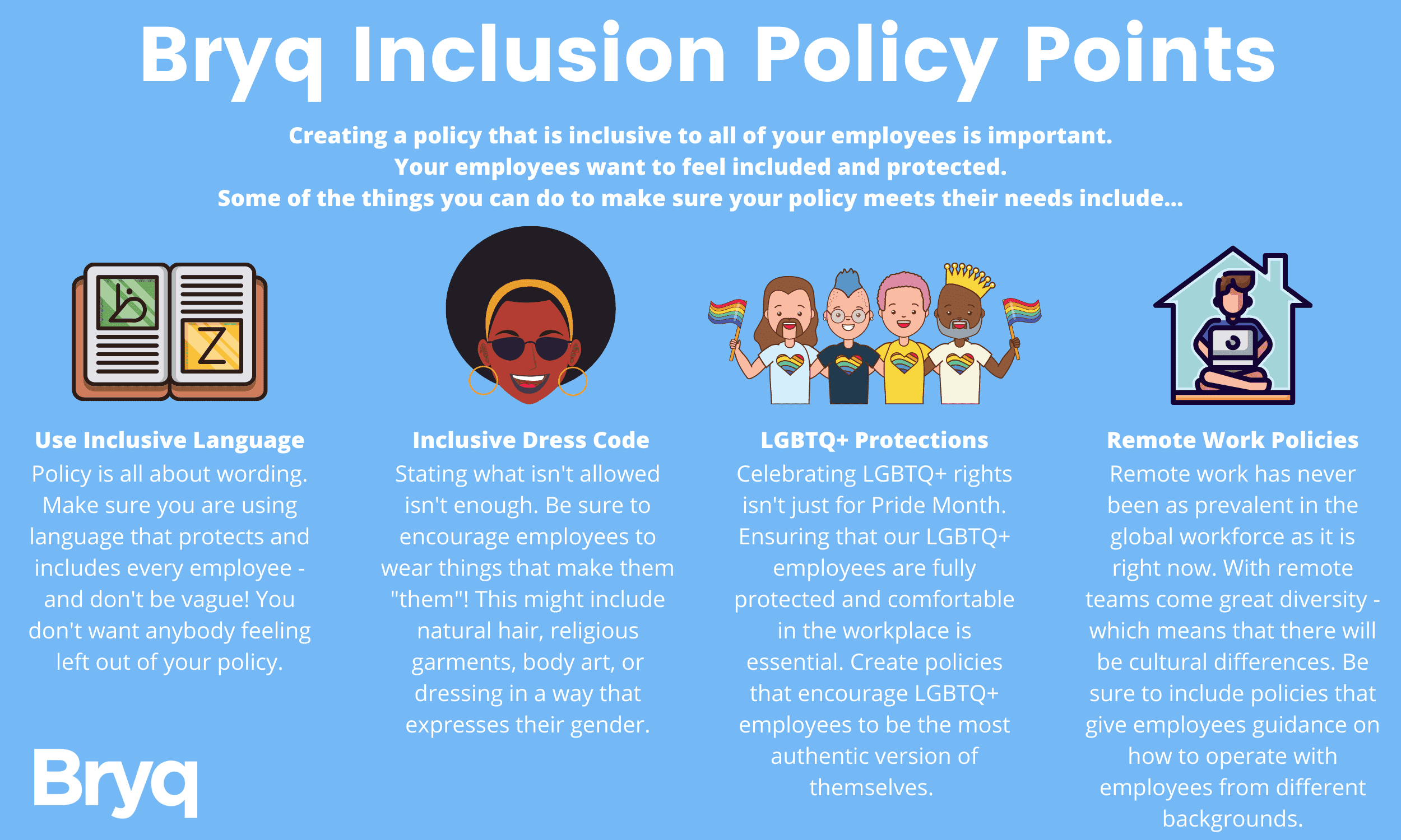 Bryq has updated its code of conduct to make it more inclusive. We want to help other companies draft better inclusion policies.